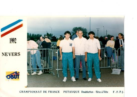 Championnat  de France 2X2 NEVERS 1992