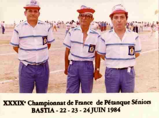 championnat de France 84 Bastia
