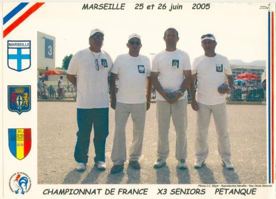 Championnat de France Triplettes 2005